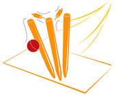 Clipart of Cricket Wickets k1927381.
