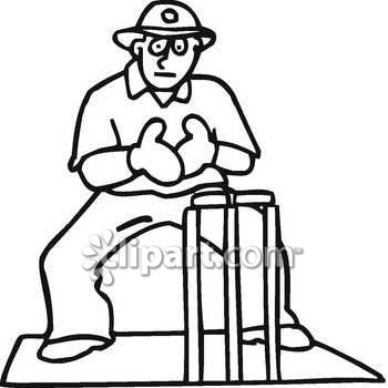 Wicketkeeper clipart #9