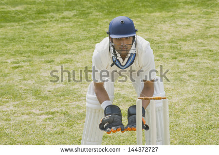 Wicketkeeper Stock Photos, Royalty.