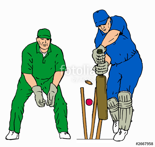 cricket batsman and wicket keeper