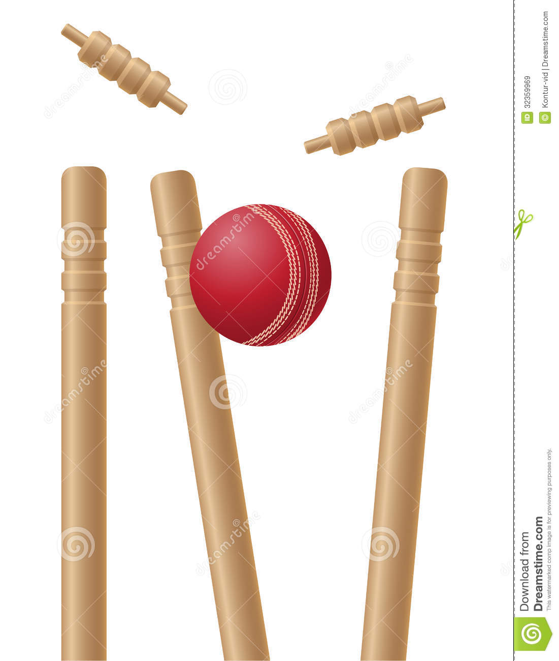 Wickets Clipart.