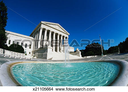 Stock Photo of USA, Washington DC, Capitol Hill Supreme Court.
