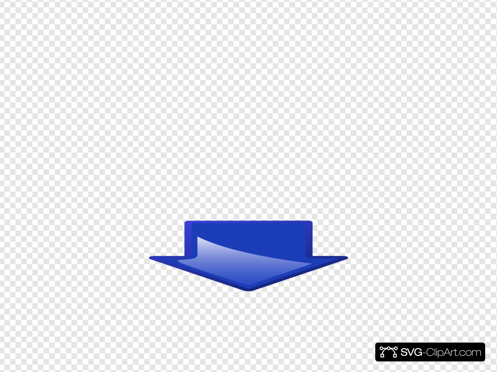 Wide Down Arrow 2 Clip art, Icon and SVG.