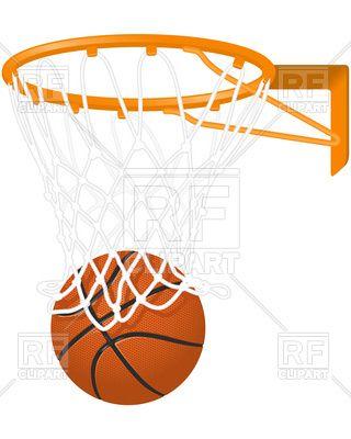 Basketball hoop and ball Stock Vector Image.
