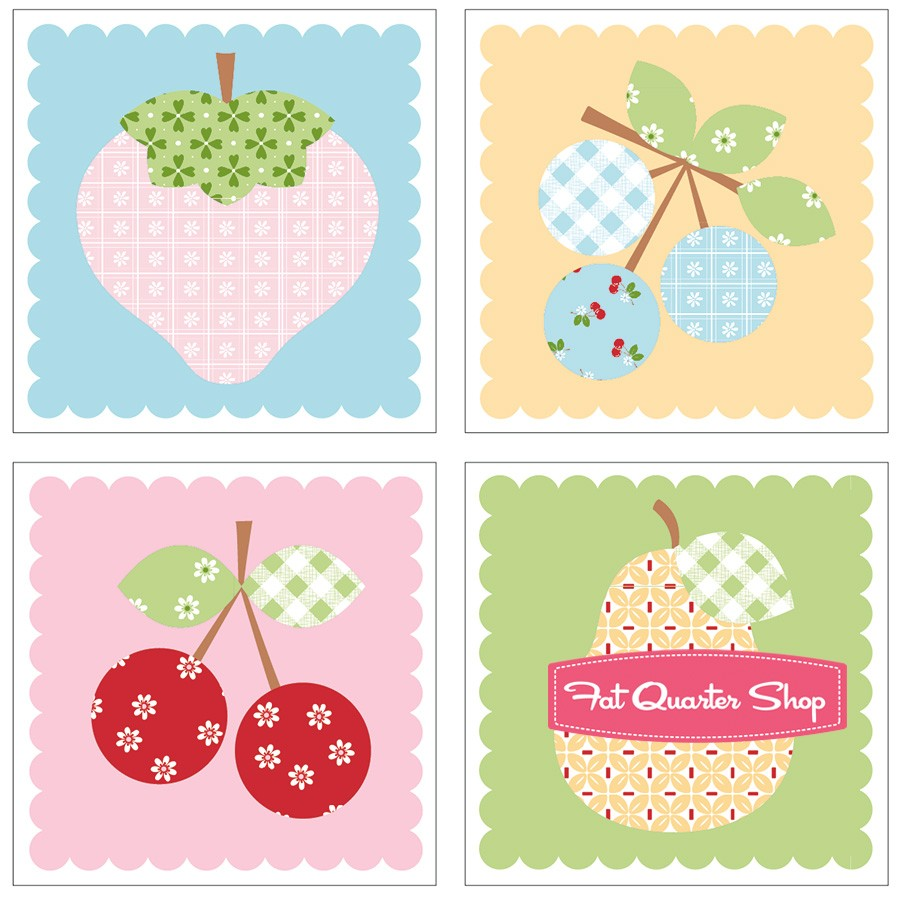 Sew Cherry Magnet Set Lori Holt of Bee in my Bonnet #ST.