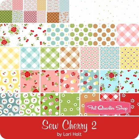 Sew Cherry 2 Fat Quarter Bundle Lori Holt for Riley Blake Designs.