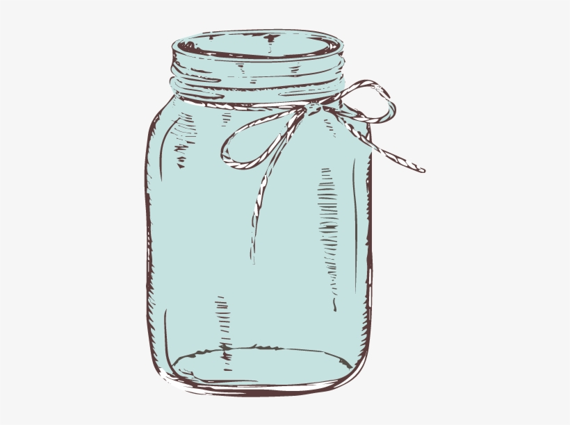 Graphic Library Download Mason Jar With Bow Clipart.