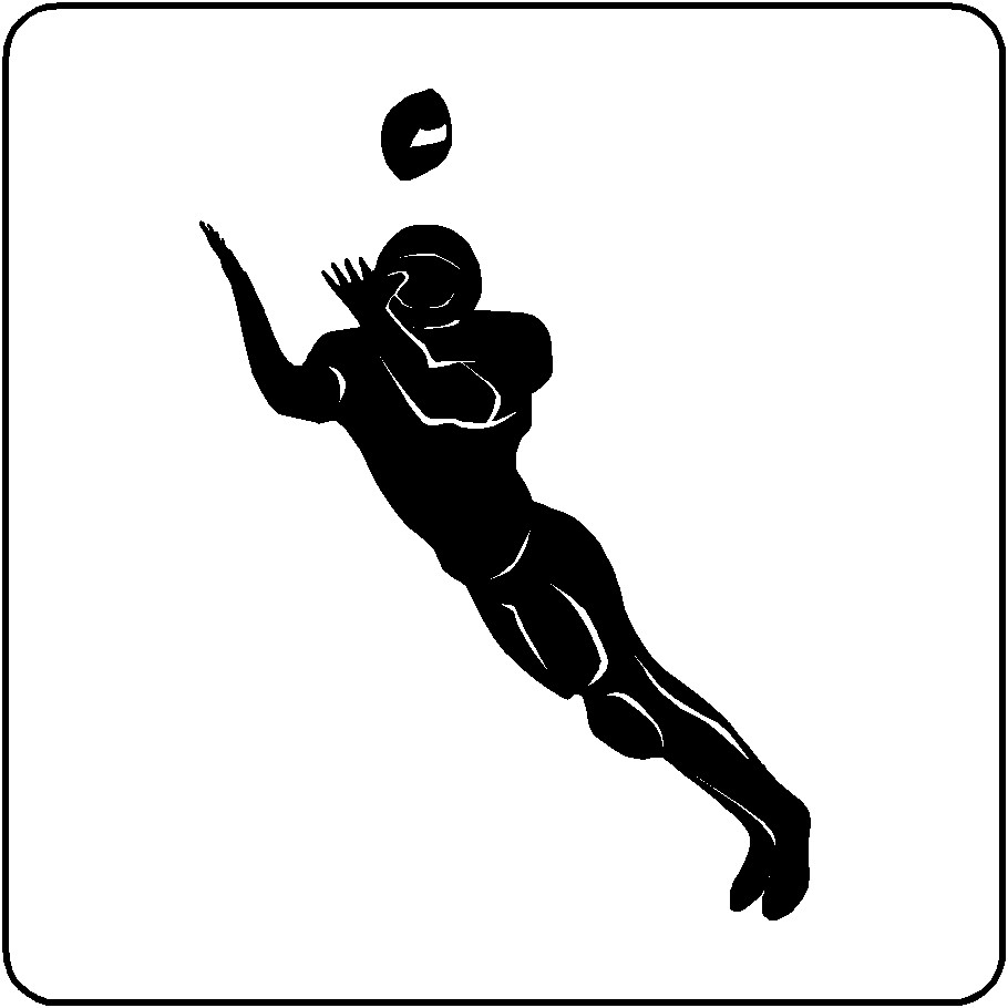 Wide Receiver Football Wall Decal Removable by eyecandysigns.