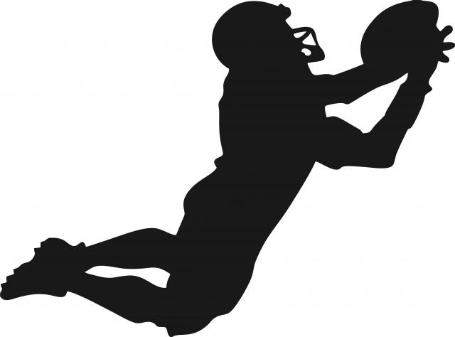 Football Receiver Silhouette.