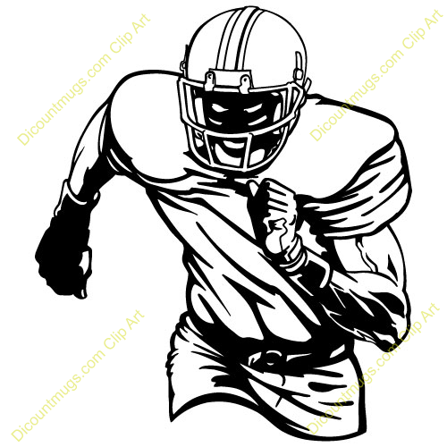 Football Receiver Clipart.