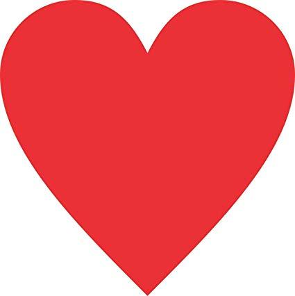 Amazon.com: 4in x 4in Red Heart Bumper Sticker Vinyl Vehicle.