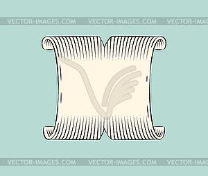 Ribbon Wide Banner Sketch.