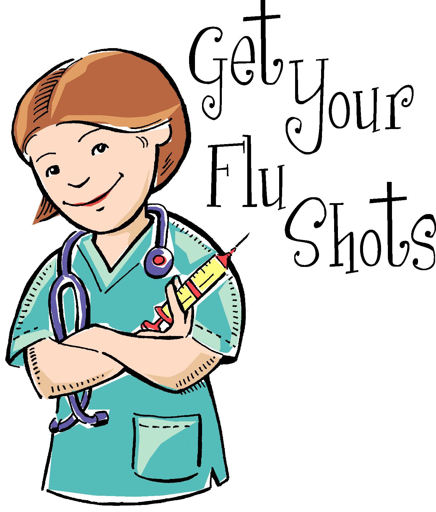 Shot clipart influenza vaccine, Shot influenza vaccine.