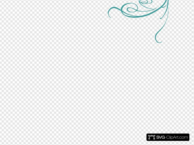 Blue Decorative Swirl Clip art, Icon and SVG.