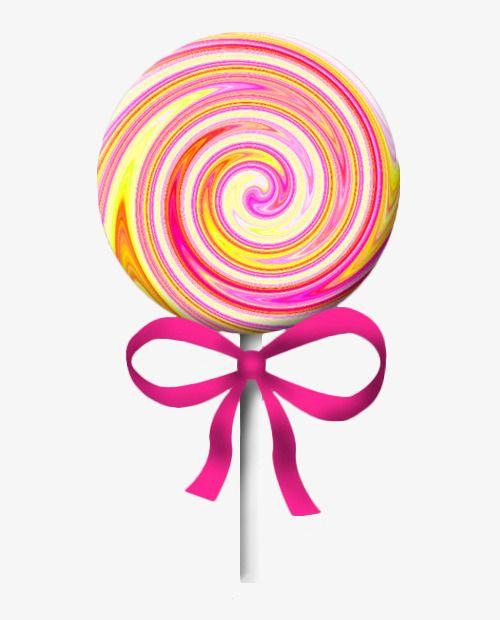 Cartoon Big Pink Lollipop.