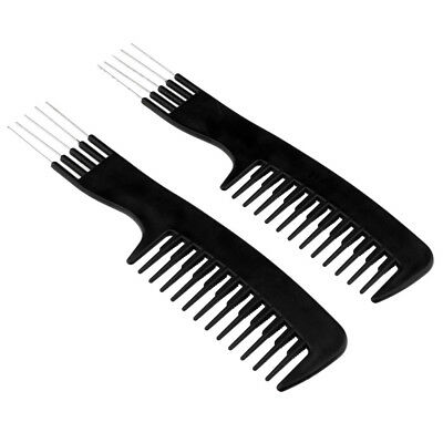 HAIR PICK COMB Fork Hair Wide Teeth Curly Brush Anti.