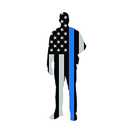 Amazon.com: Police Thin Blue Line Flag Sticker Decal Self.
