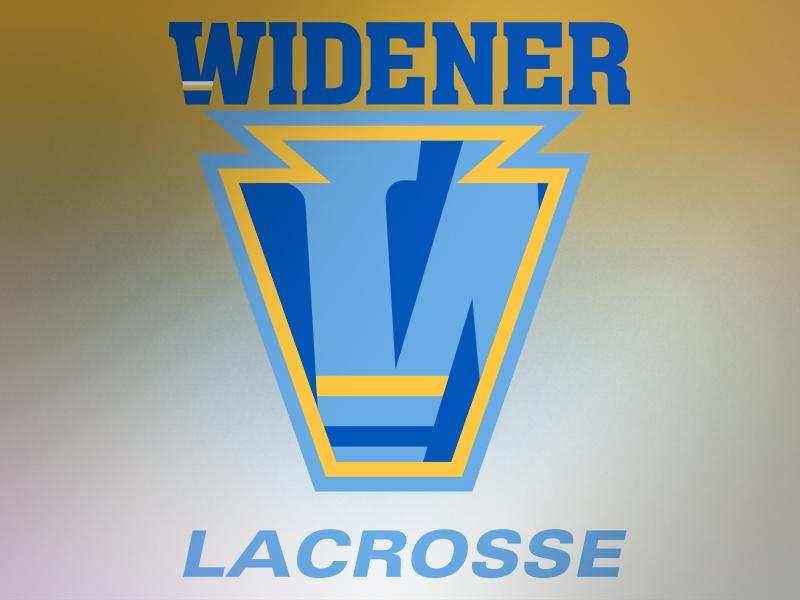 Widener University Lacrosse Alternative Logo by Kyle Garzia.