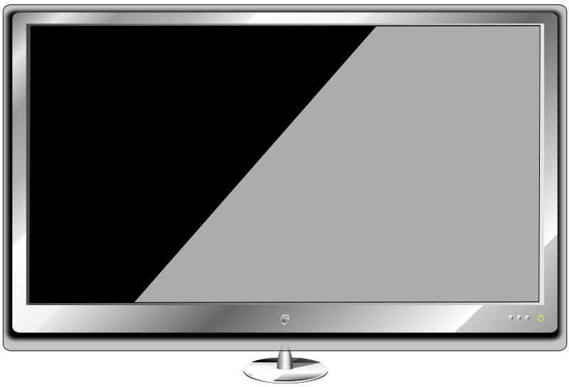 Free Clipart: Monitor wide screen.