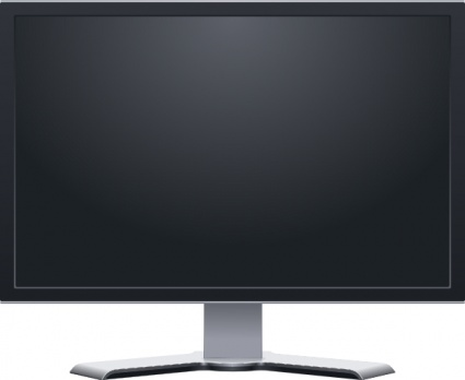 Dual Monitor Widescreen Clipart.