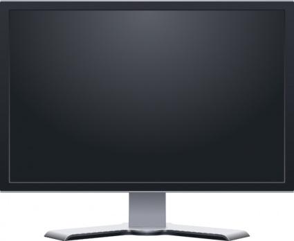 Dual Monitor Widescreen Clipart.