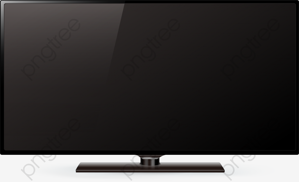 Black Widescreen Tv, Black Vector, Tv Vector, Vector Material PNG.