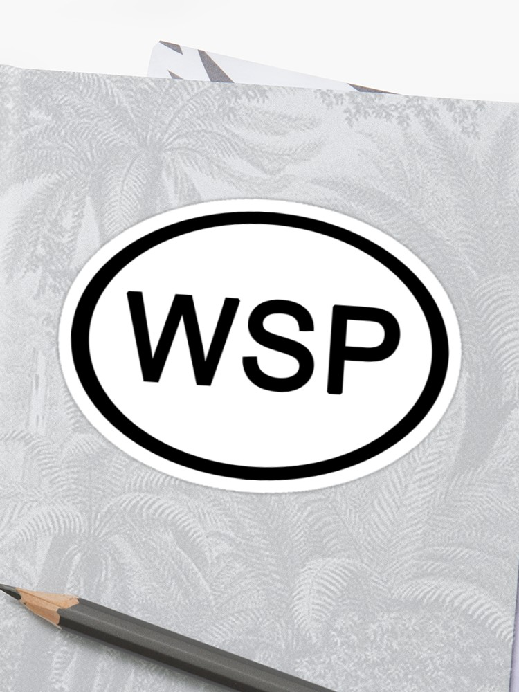 \'Widespread Panic WSP Euro Car Sticker\' Sticker by GrokkoW.