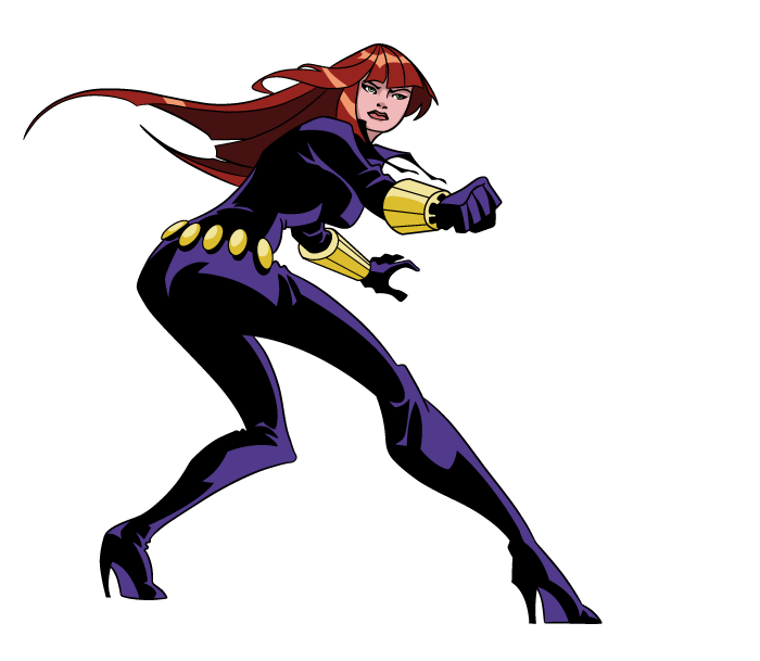 Showing post & media for Cartoon black widow clipart.