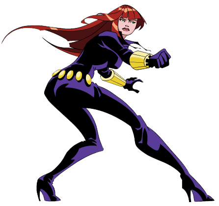 Black widow clipart.