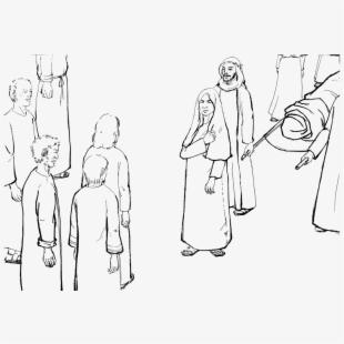 Jesus Raises The Widow\'s Son Coloring Page , Transparent.