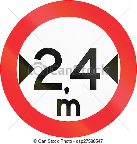 Stock Photo of Width Limit in Chile.