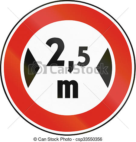 Stock Illustrations of Road sign used in Slovakia.