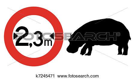 Clipart of Width traffic limit signal k7245471.