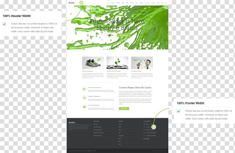 Web design Web navigation Page layout, header and footer.