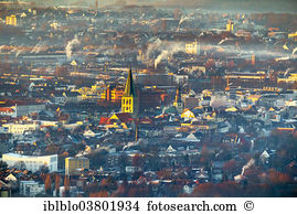 Cityscape naumburg dome church st wenzel germany aerial photo.