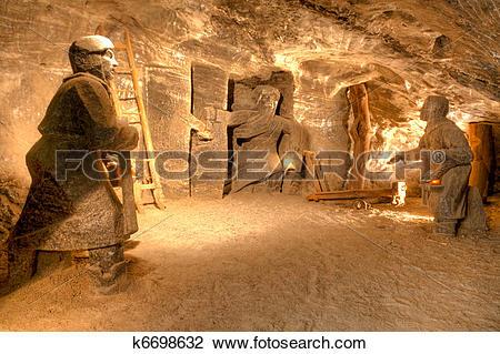 Stock Photo of Wieliczka Salt Mine k6698632.