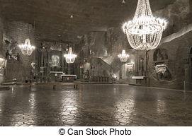 Stock Image of Underground Chamber in the Salt Mine, Wieliczka.