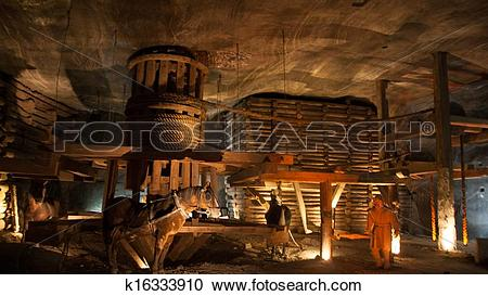 Stock Photography of Wieliczka Salt Mine k16333910.