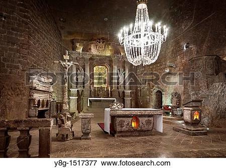 Picture of Wieliczka Salt Mine Unesco, Poland, Europe y8g.