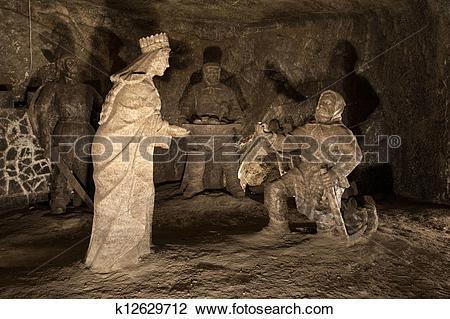 Stock Photo of Wieliczka Salt Mine k12629712.