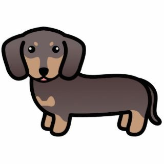 Wiener dog cute clipart.