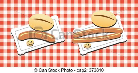 Clipart of Bockwurst.