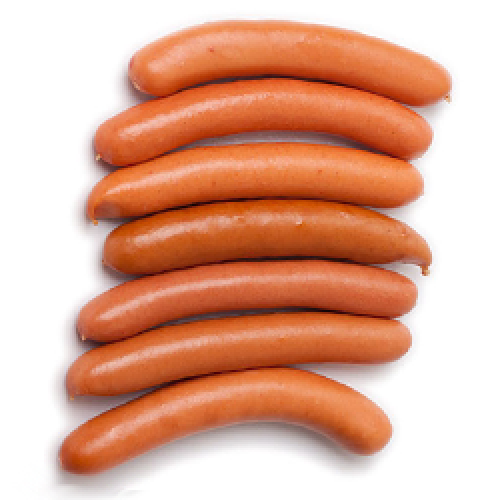 Dearbourne All Meat Natural Casing Wieners.