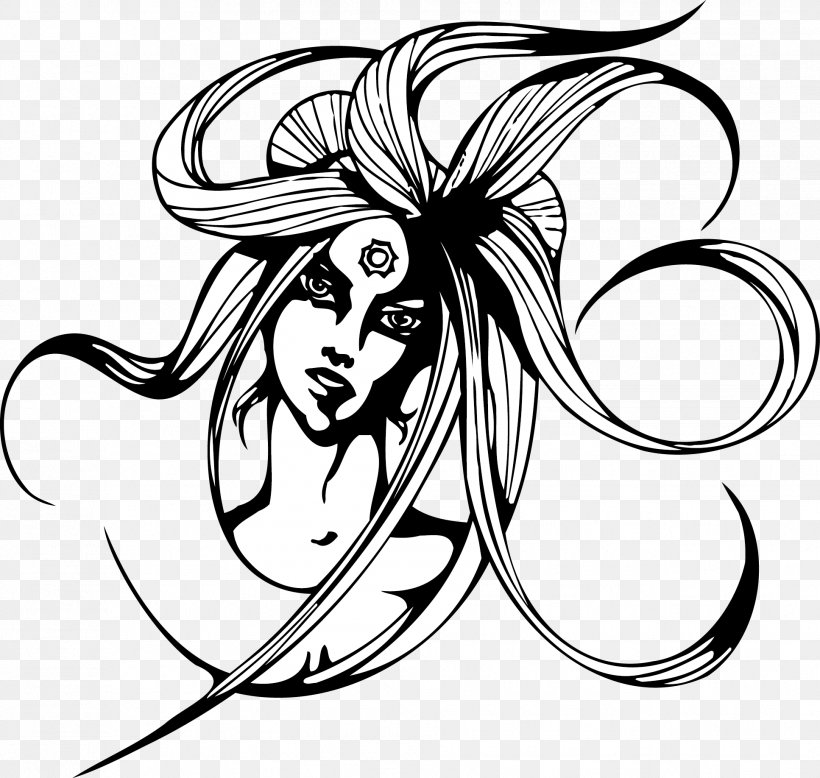 Black And White Woman Clip Art, PNG, 1934x1835px, Black And.