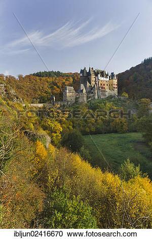 Stock Photography of Burg Eltz castle, a Ganerbenburg shared by.