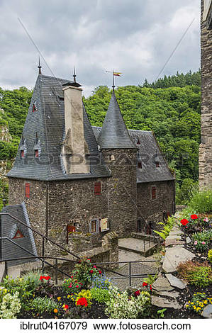 Stock Photograph of Inside Eltz Castle, Wierschem, Rhineland.