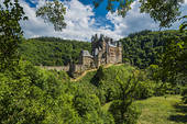 Stock Photo of Courtyard of Eltz Castle, Wierschem, Rhineland.