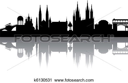 Clipart of Wiesbaden Silhouette abstract k6130531.
