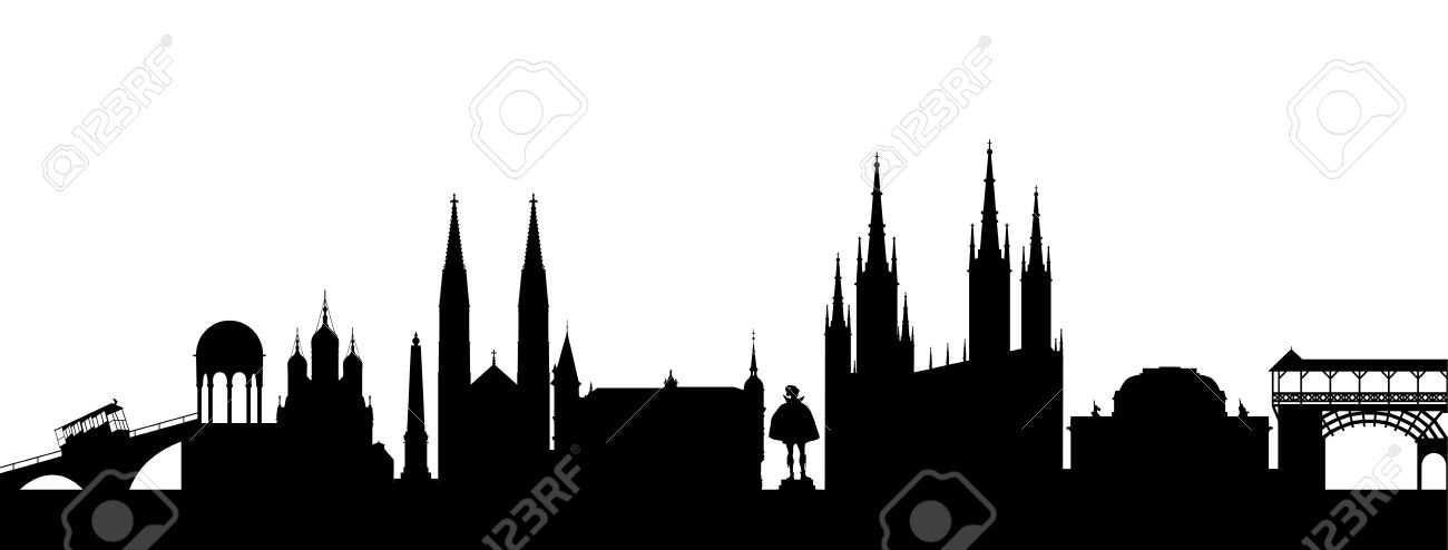 Wiesbaden Silhouette Abstract Royalty Free Cliparts, Vectors, And.