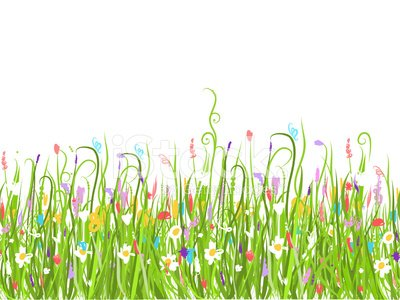 Green meadow, seamless pattern for your design Clipart Image.
